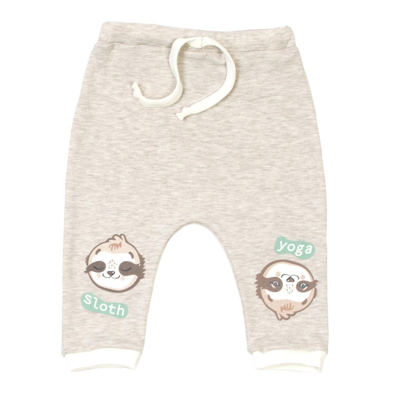 Штанишки Baby Veres Sloth yoga молочный рибана