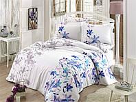 Двуспальный комплект постельного белья Exclusive Sateen Lucia 200*220/4*50*70 см (8698499132467) Голубой