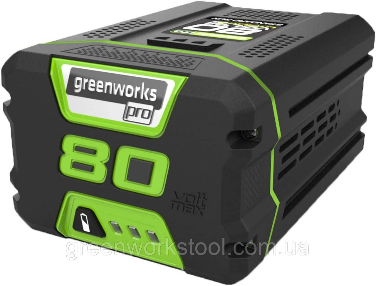 Greenworks PRO 80V 2.0 Ач литий-ионная батарея G80B2 (2901207) (GBA80200 )