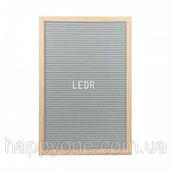 Доска для создания надписей Letter board (серая) 30х45 см