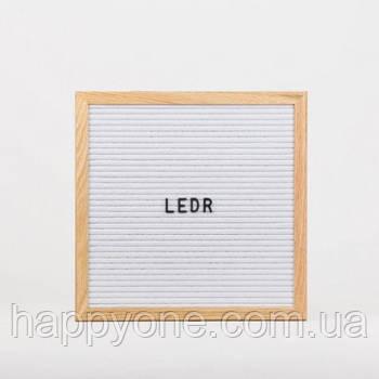 Доска для создания надписей Letter board (белая) 30х30 см