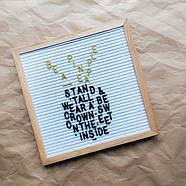 Доска для создания надписей Letter board (белая) 30х30 см, фото 3