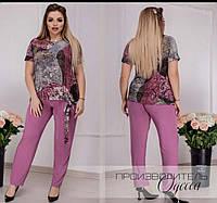 Летний костюм брючный женский, классика и красота, блуза+брюки, р.50,52,54,56 код 739О