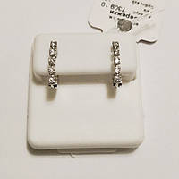 Серебряные серьги родированные с цирконием Анфиса, фото 1
