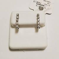 Срібні сережки родированные з цирконієм Анфіса, фото 1