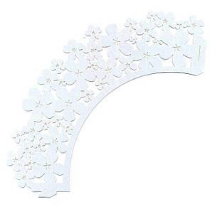 Накладка бумажная декоративная ажурная для маффинов разных цветов (уп 20 шт) 0378