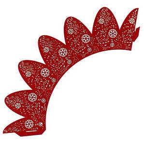 Накладка бумажная декоративная ажурная для маффинов разных цветов (уп 20 шт) 0361