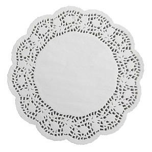 Салфетки бумажные круглые ажурные Ø 267 мм (уп 100 шт)
