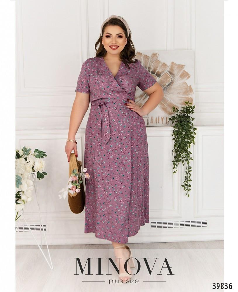 Нежное и уютное, лёгкое платье батал на запах, батал minova размеры: 50-52, 54-56, 58-60