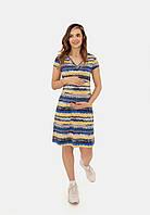 Трикотажное платье для беременных и кормящих (waves), фото 1