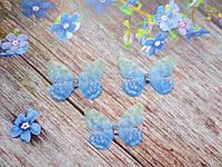 """Аплікація, """"Метелик-міні шифонова"""", двошарова, колір на фото, 30х22 мм, 1 шт."""