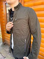 Мужская куртка парка ветровка тонкая летняя весна осень демисезонная Катон хлопок