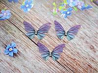 "Аппликация, ""Бабочка-мини шифоновая"", двухслойная, цвет на фото, 33х20 мм, 1 шт."