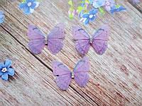"""Аплікація, """"Метелик-міні шифонова"""", двошарова, колір на фото, 30х25 мм, 1 шт."""