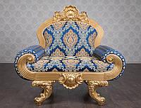 """Классическое мягкое кресло """"Барселона"""", в стиле Нео Барокко от производителя, из натурального дерева"""