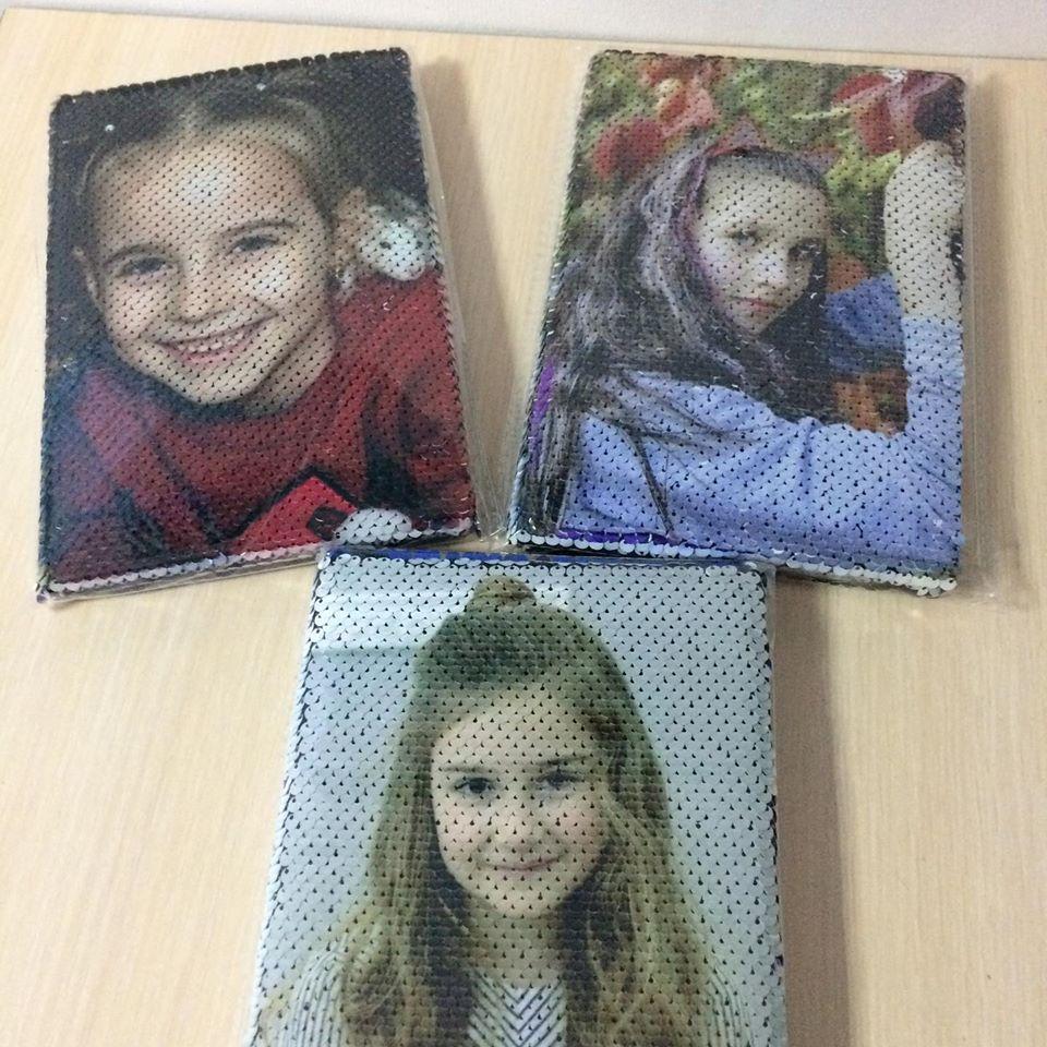 Блокнот с пайетками и   фото