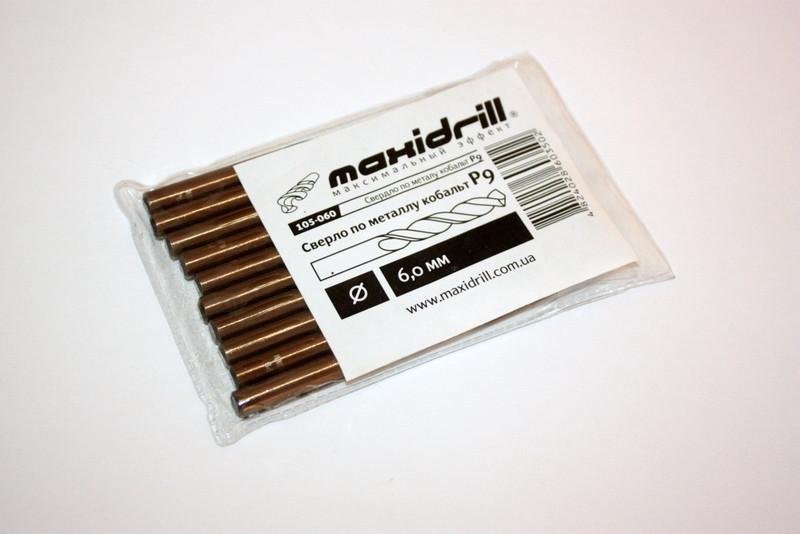"Свердло по металу Р9 (кобальт)18,0 з хвостовиком 10 мм ""MAXIDRILL""  (шт.)"