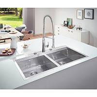 Двойная кухонная раковина Grohe EX Sink 31585SD0 серия K800 102*56