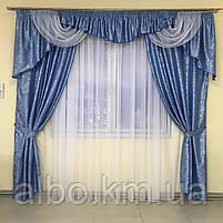 Комплект штор в гостинную, шторы с ламбрекеном на карниз в зал спальню кухню гостинную, красивые ламбрекены в, фото 8