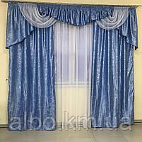 Комплект штор в гостинную, шторы с ламбрекеном на карниз в зал спальню кухню гостинную, красивые ламбрекены в, фото 6