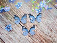 """Аплікація, """"Метелик-міні шифонова"""", двошарова, колір на фото, 30х23 мм, 1 шт."""