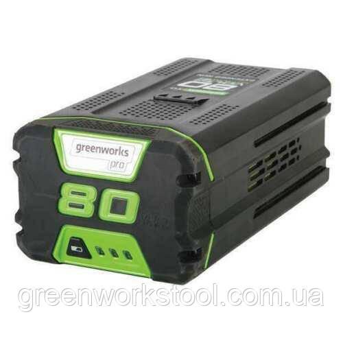 Аккумулятор Greenworks PRO G80B4 80V 4.0 Ач (литий-ионная батарея)  (2901307) ( GBA80400 )