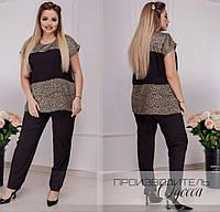 Летний костюм брючный женский, классика и красота, блуза+брюки, р.50,52,54,56 код 737О