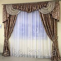 Ламбрекен для зала, готовый ламбрекен в комнату зал, шторы жаккард для спальни кухни детской, шторы из, фото 6