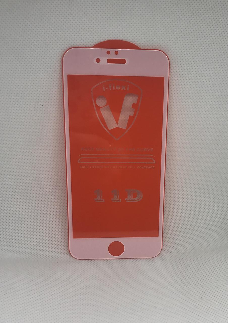 Apple iPhone 6 защитное стекло с белой рамкой/окантовкой 5D 6D 9D 11D полное покрытие Full glue полный клей