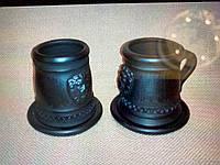 "Чашка  ""Чорна кераміка"" ручна робота 175 грам"
