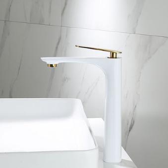 Смеситель для ванной Модель RD-430 Белый с золотом (29 см)