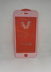 Защитное стекло для iPhone 6S (белая окантовка) полное покрытие Full glue полный клей