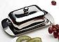 Масленка нержавеющая Berghoff 1106267   тарелка с крышкой для масла Бергофф, емкость под масло Бергоф, фото 2