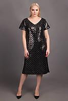 ANDRE TAN Эксклюзивное дизайнерское женское платье черного цвета: XXXL