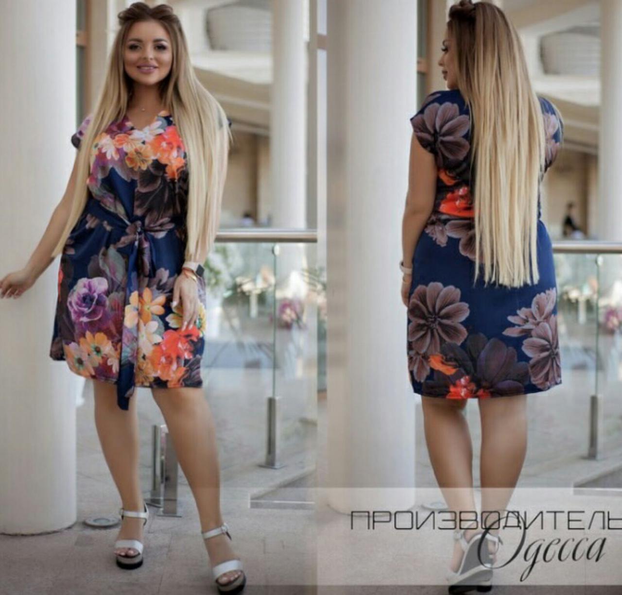 Сукня міні батал літній, зручно і стильно на кожен день, р. 50,52,54,56,58,60 код 749О