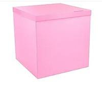 Коробка для шаров розовая 70×70×70 см