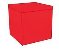 Коробка для шаров красная70×70×70 см
