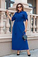Платье женское в пол большого размера летнее