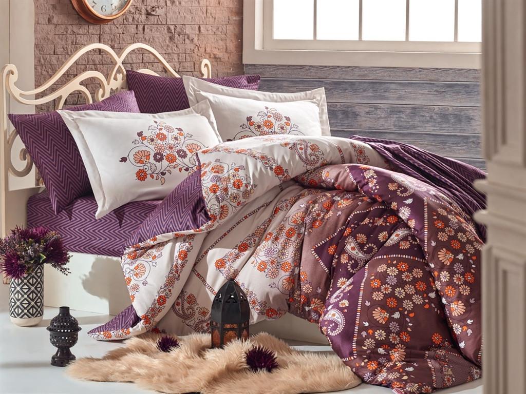 Двуспальный комплект постельного белья Exclusive Sateen Sanchal 200*220/4*50*70 см (32214)