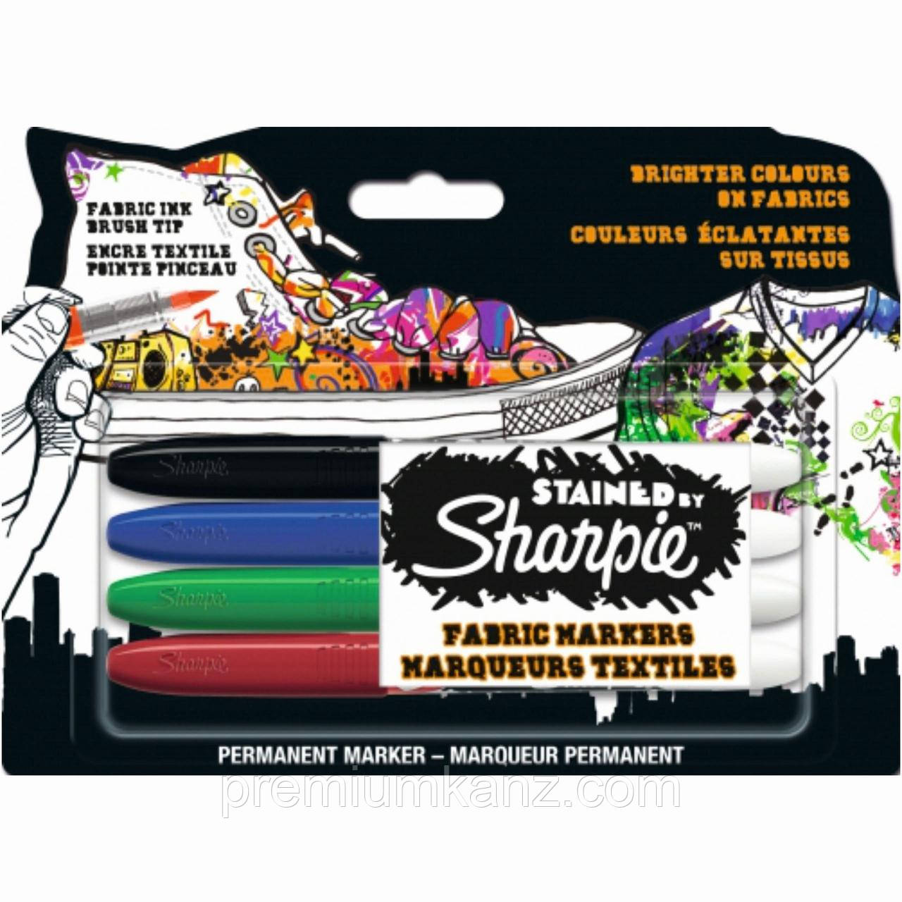 Фломастеры для ткани Sharpie Stained  Paper Mate (набор 4 шт)
