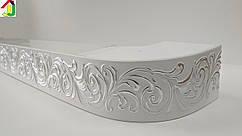 Лента декоративная, Бленда Премьер 11 Серебро на потолочный карниз КСМ 68 мм, усиленный потолочный карниз