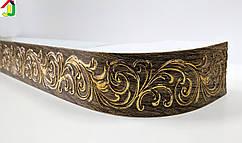 Лента декоративная, Бленда Премьер 110 Старое Золото потолочный карниз КСМ 68 мм, усиленный потолочный карниз