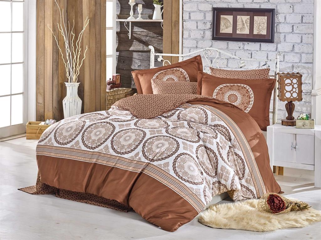 Двуспальный комплект постельного белья Exclusive Sateen Silvana 200*220/4*50*70 см (32245)