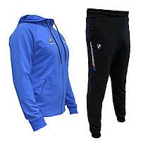 Спортивный мужской костюм  Puma.  BMW Motorsport с капюшоном, синий, весна-лето, повседневный костюм