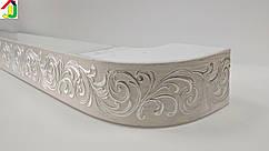Лента декоративная, Бленда Премьер 111 Крем серебро потолочный карниз КСМ 68 мм, усиленный потолочный карниз