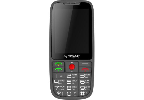 Мобильный телефон Sigma mobile Comfort 50 Elegance 3.0 DS Black MediaTek MT6261D 1600 мАч