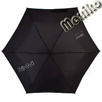 Мини зонт NEX плоский в футляре, расцветка Иероглифы
