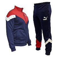 Спортивный мужской костюм Puma. Красно синий весна-лето, повседневный костюм   AD sport