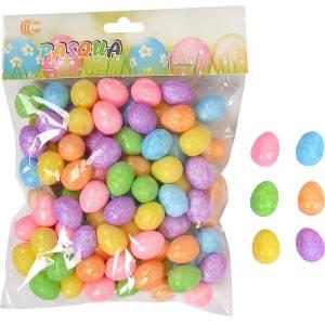 Набор яиц декоративных глитером HA-445, фото 2