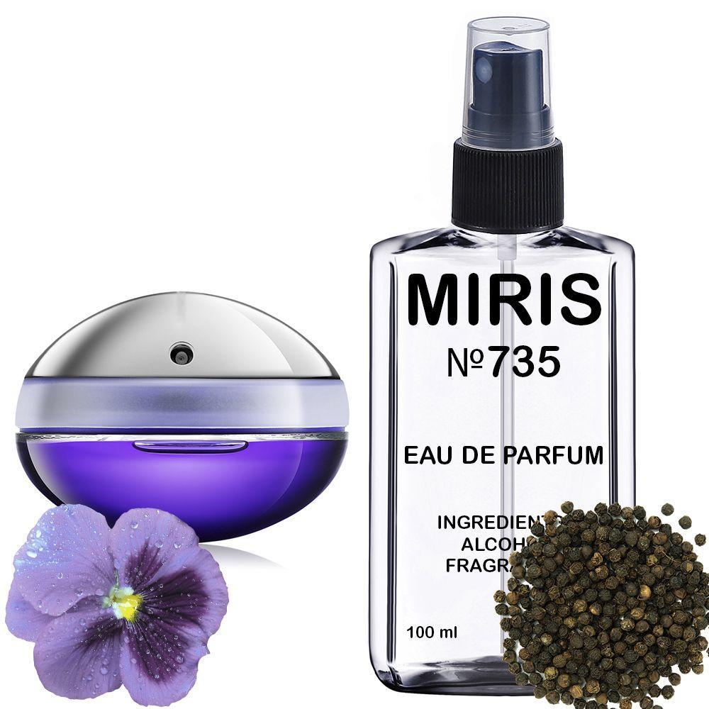 Духи MIRIS №735 (аромат схожий на Paco Rabanne Ultraviolet) Жіночі 100 ml